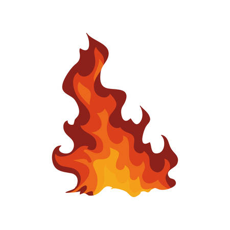 represented: Fire concept represented by flame icon. Isolated and flat illustration Illustration