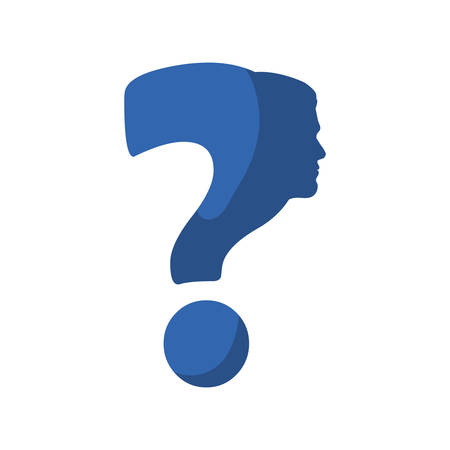 quality questions: Doubt concept represented by Question mark icon. Isolated and flat illustration Illustration