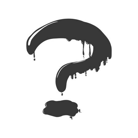 question mark icon: Doubt concept represented by Question mark icon. Isolated and flat illustration Illustration