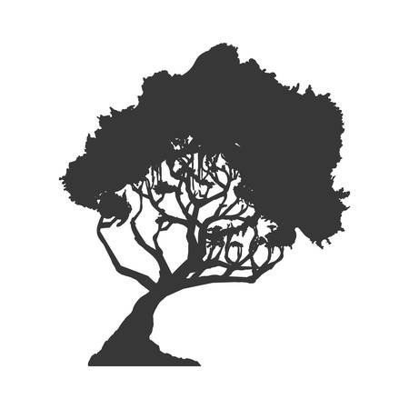 represented: Nature concept represented by tree icon. Isolated and flat illustration