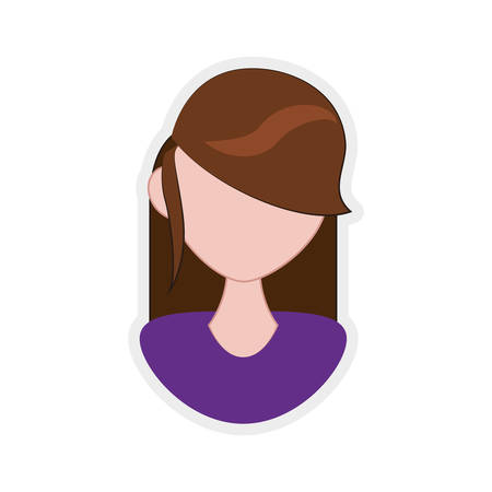 represented: Avatar concept represented by Woman icon. Isolated and flat illustration Illustration