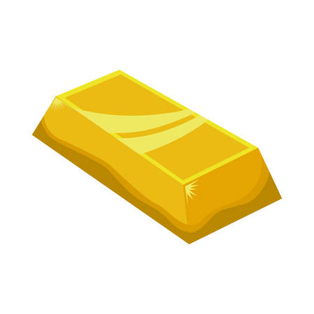 gold bar: Treasure concept represented by Gold bar icon. Isolated and flat illustration