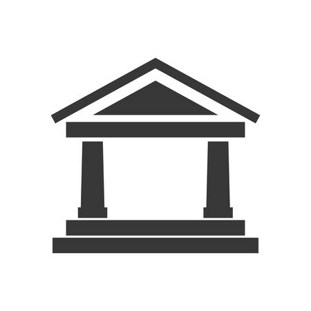 represented: Money concept represented by bank icon. Isolated and flat illustration