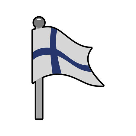 souvenir: Finland concept represented by flag icon. Isolated and flat illustration Illustration