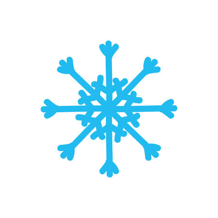 represented: Winter concept represented by Snowflake icon. Isolated and flat illustration