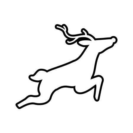 represented: Animal concept represented by reindeer icon. Isolated and flat illustration Illustration
