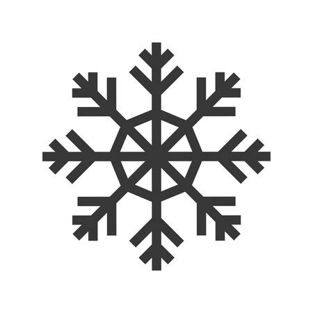 snowdrift: Winter concept represented by Snowflake icon. Isolated and flat illustration
