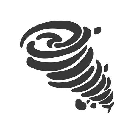 twister: Natural Disaster concept represented by twister icon. Isolated and flat illustration