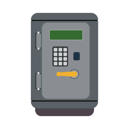 strongbox: Money and Financial item concept represented by strongbox icon. Isolated and flat illustration