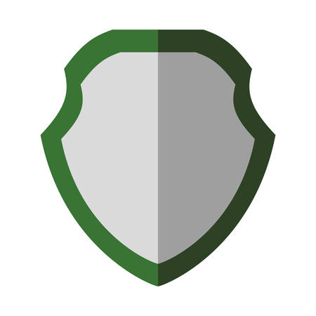 Protection concept represented by shield icon. Isolated and flat illustration 向量圖像
