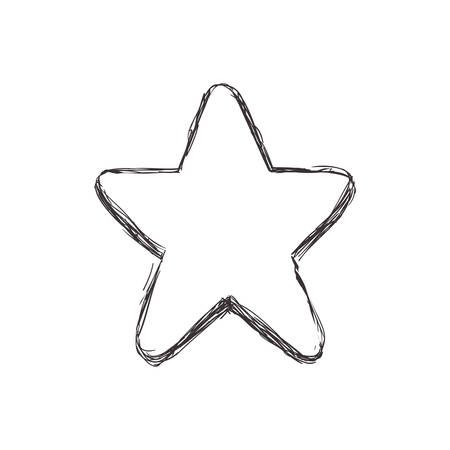 Shape concept represented by star icon. Isolated and flat illustration