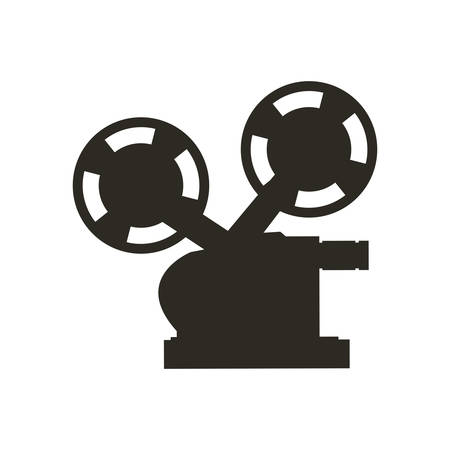 videocamera: Cinema and Movie concept represented by videocamera icon. Isolated and flat illustration Illustration