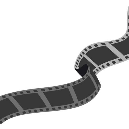 strip show: Cinema and Movie concept represented by film strip icon. Isolated and flat illustration