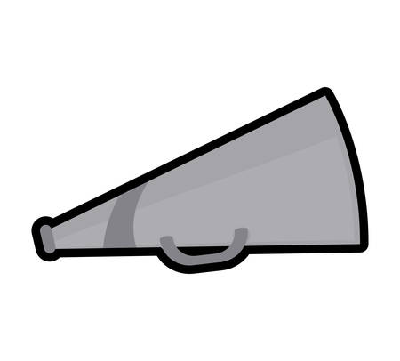 cinema viewing: Cinema and Movie concept represented by Megaphone icon. Isolated and flat illustration