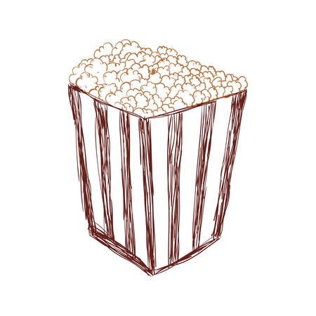 pop corn: Cinema and food concept represented by pop corn icon. Isolated and flat illustration