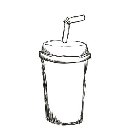 Drink concept represented by soda icon. Isolated and flat illustration Illustration