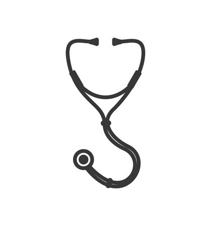 Medical and Health care concept represented by stethoscope icon. Isolated and flat illustration Illustration