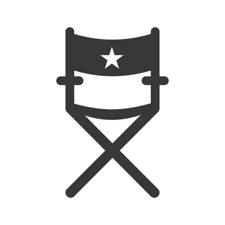 cinema viewing: Cinema and Movie concept represented by Directors chair icon. Isolated and flat illustration