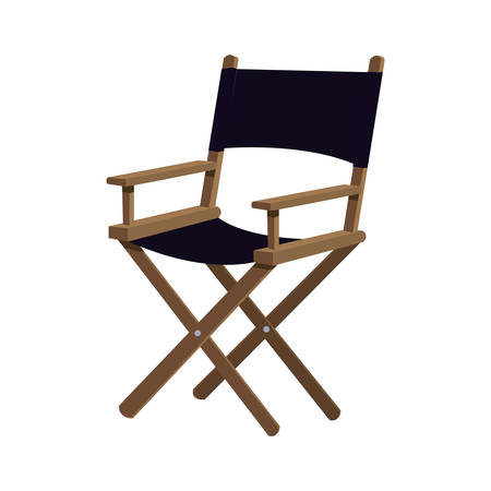 director's chair: Cinema and Movie concept represented by Directors chair icon. Isolated and flat illustration