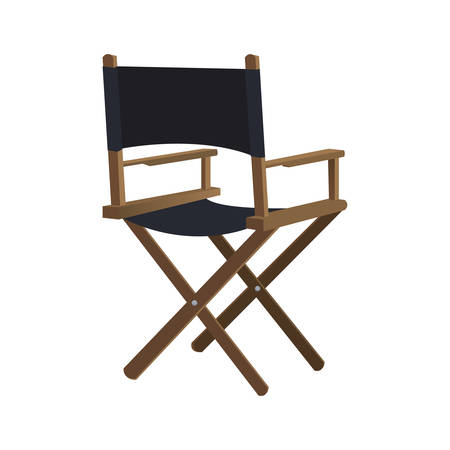 directors: Cinema and Movie concept represented by Directors chair icon. Isolated and flat illustration