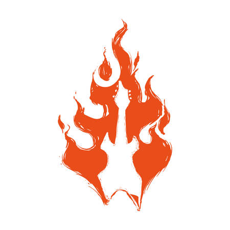 Fire concept represented by flame icon. Isolated and flat illustration Illustration