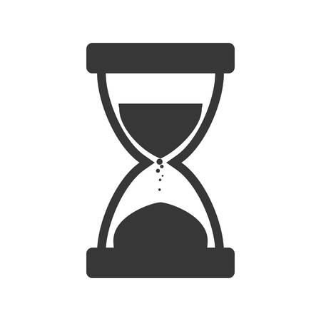 represented: Time concept represented by hourglass icon. Isolated and flat illustration Illustration