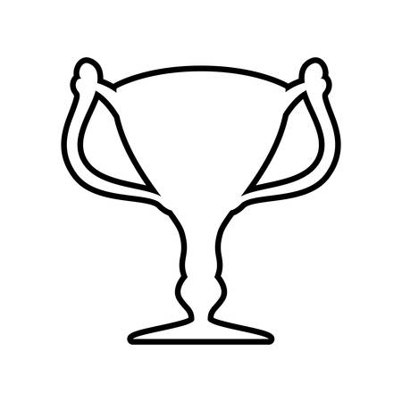 first job: Winner and competition concept represented by trophy cup silhouette icon. Isolated and flat illustration Illustration
