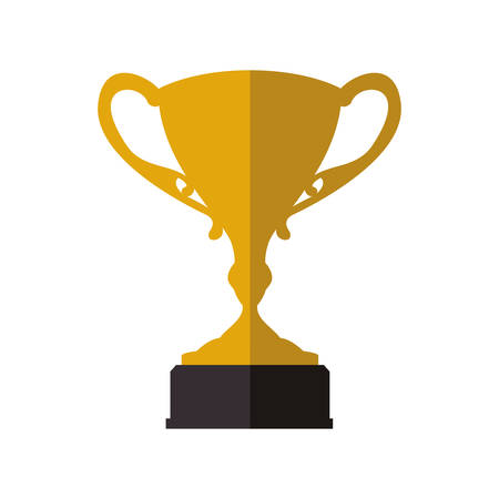 Winner and competition concept represented by gold trophy cup icon. Isolated and flat illustration