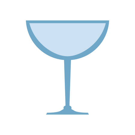 represented: Drink concept represented by glass icon. Isolated and flat illustration