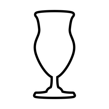 Drink concept represented by glass icon. Isolated and flat illustration