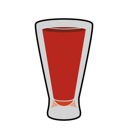 shots alcohol: Drink and alcohol concept represented by cocktail shot icon. Isolated and flat illustration