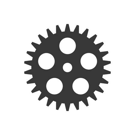 mechanism of progress: Machine part concept represented by gear icon. Isolated and flat illustration