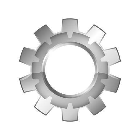 spin: Machine part concept represented by gear icon. Isolated and flat illustration