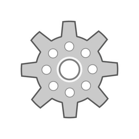 machine part: Machine part concept represented by gear icon. Isolated and flat illustration