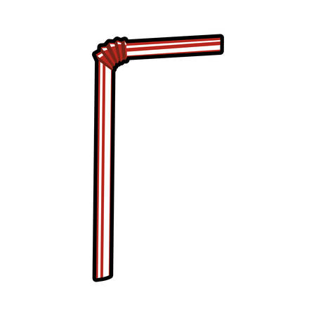 drinking straw: Drink concept represented by drinking straw icon. Isolated and flat illustration