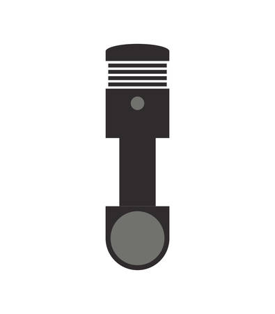 machine part: Tool and repair concept represented by car machine part icon. Isolated and flat illustration