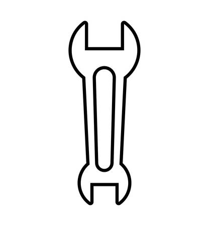 rebuilding: Tool and repair concept represented by wrench icon. Isolated and flat illustration Illustration