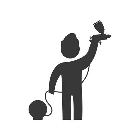 reconstruction: Repair and construction concept represented by constructer pictogram icon. Isolated and flat illustration