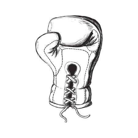 represented: Boxing concept represented by Glove icon. Isolated and sketch illustration Illustration