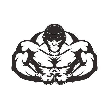 Boxing concept represented by boxer icon. Isolated and flat illustration