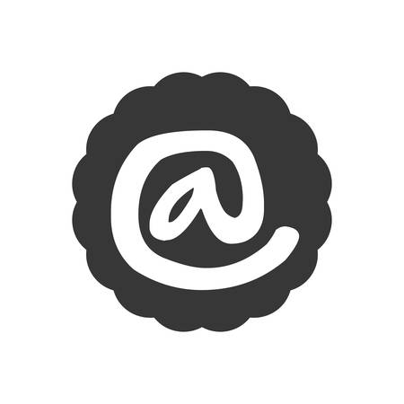 arroba: Email concept represented by arroba icon. Isolated and flat illustration