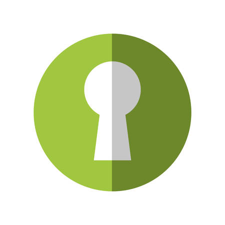 key hole: Security and Protection concept represented by key hole icon. Isolated and flat illustration