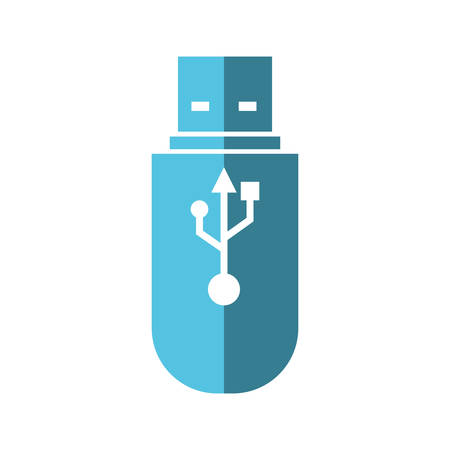 computer socket: Gadget and technology concept represented by usb icon. Isolated and flat illustration Illustration