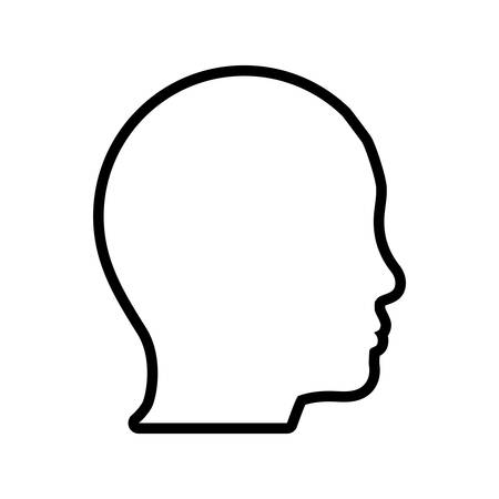 Human head and think concept represented by man icon. Isolated and flat illustration