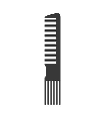 haircare: Hair salon and barber shop concept represented by comb icon. Isolated and flat illustration Illustration