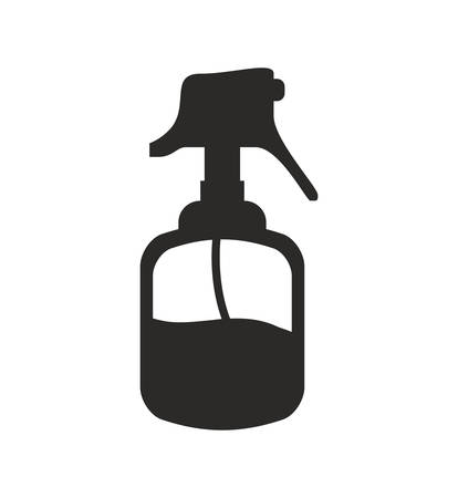 hairstylist: Hair salon and barber shop concept represented by bottle splash bicon. Isolated and flat illustration