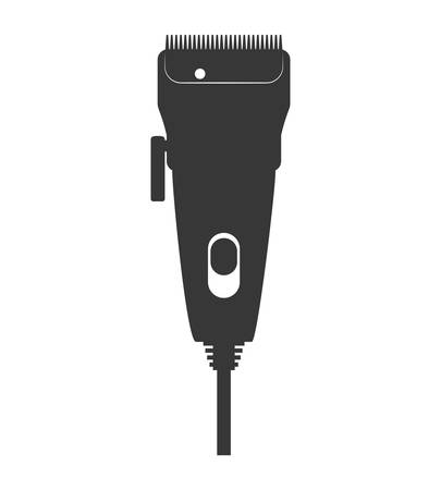 hairstylist: Hair salon and barber shop concept represented by razor icon. Isolated and flat illustration