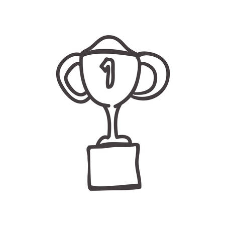 Sketch concept represented by trophy cup icon. Isolated and flat illustration
