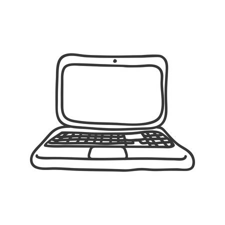 represented: Sketch concept represented by laptop icon. Isolated and flat illustration