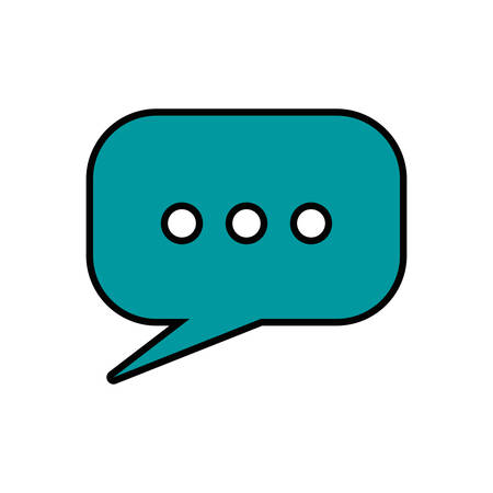 Communication concept represented by bubble icon. Isolated and flat illustration